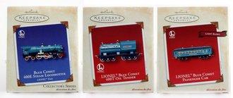 Lionel Ornament - 2002 Set - Blue Comet, Tender & Passenger Car