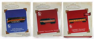 Lionel Ornament - 2003 Set - SP Daylight, Tender & Observation Car