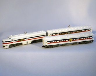 Lionel Ornament - 2007 Set - Freedom Train Diesel, Sleeper & Observation Car