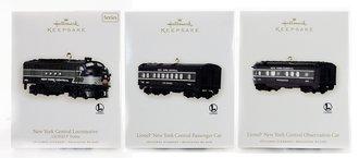 Lionel Ornament - 2008 Set - NYC Diesel, Passenger Car & Observation Car