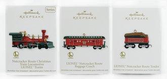 Lionel Ornament - 2012 Set - Nutcracker Engine, Tender & Baggage Coach