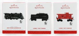 Lionel Ornament - 2013 Set - 2037 Steam Engine, Tender & Caboose