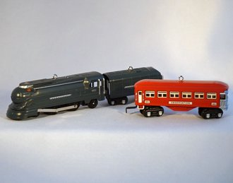 Lionel Ornament - 2014 Set - Torpedo Engine, Tender &  Observation Car
