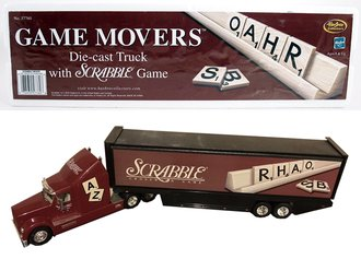 Game Movers Diecast Truck w/Scrabble Game (Maroon) (Sealed - Board Game)