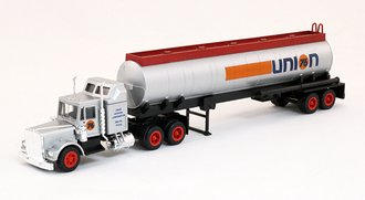 "Conventional Tractor w/Oil Tanker ""Union 76"" (Silver)"