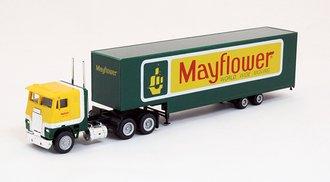 "COE Tractor w/Moving Van Trailer ""Mayflower"" (Yellow/Green)"