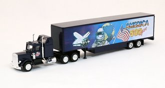 "Conventional Tractor w/Moving Van Trailer ""America '500' Years"" (Navy)"