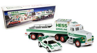 1993 Hess Toy Truck and Racer (White/Green)