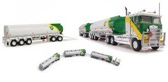 "1:64 Kenworth COE Tractor w/Triple Tanker Trailers ""BP Gasoline"""