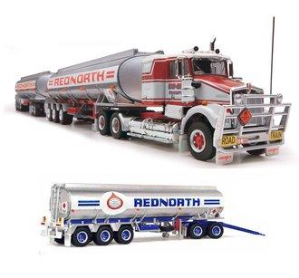 "1:64 Kenworth W924SAR Tractor w/Triple Tanker Trailers ""Kenworth"""