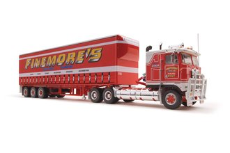 """1:64 Highway Replicas - Kenworth K-100 w/Curtain Sided Trailer """"Finemore's"""""""