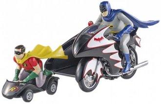 "Elite 1:12 Batcycle ""Classic TV Series"" w/Figures"