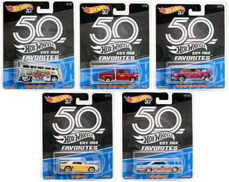 1:64 2018 Hot Wheels 50th Anniversary - Favorites Release B (Case of 10)