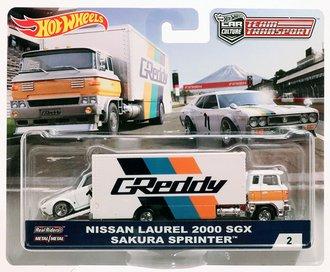 "1:64 Sakura Sprinter™ w/Nissan Laurel 2000 SCX ""GReddy"""