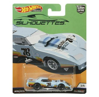 1:64 Silhouettes - 1976 Greenwood Corvette (Light Blue)