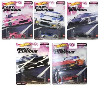 1:64 Hot Wheels 2020 Premium - Quick Shifters - Fast & Furious (Case of 10)