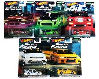 1:64 Hot Wheels 2019 Premium - Original Fast - Fast & Furious (Set of 5)