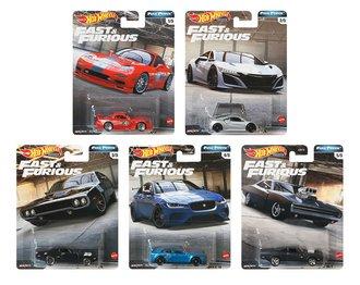 1:64 Hot Wheels 2020 Premium - Full Force - Fast & Furious (Set of 5)