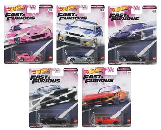 1:64 Hot Wheels 2020 Premium - Quick Shifters - Fast & Furious (Set of 5)