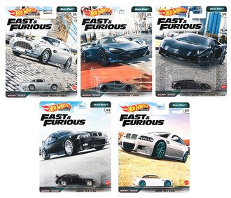 1:64 Hot Wheels 2020 Premium - Euro Fast - Fast & Furious (Set of 5)