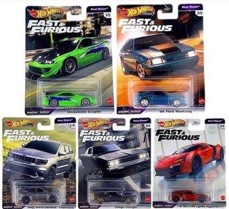 1:64 Hot Wheels 2021 Premium - Fast Stars - Fast & Furious (Set of 5)