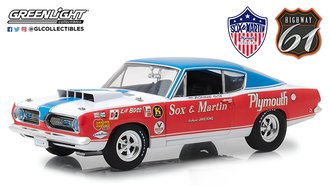 "1:18 1968 Plymouth Barracuda Sox and Martin ""2014 Barret-Jackson - Scottsdale"""