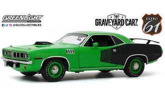 "1:18 Graveyard Carz 1971 Plymouth 'Cuda w/Custom Crate 392 HEMI Engine ""2016 SEMA Show Unveil"""