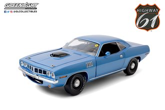 "1:18 Mecum Auctions - 1971 Plymouth HEMI Cuda ""Indianapolis 2011, Lot #S266"" (Blue)"