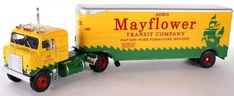 "1955 Kenworth Bullnose COE w/Moving Trailer ""Mayflower"""