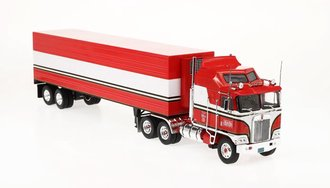 "1:43 Kenworth K100E w/Reefer Trailer ""B.J. McKay - BJ and the Bear"" (Red)"