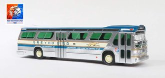 "1:43 GM TDH5301 Transit Bus ""Greyhound Bus Lines - 1964 New York World's Fair"""