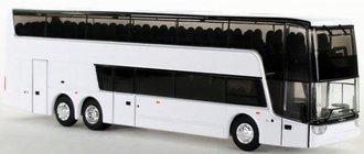1:87 Van Hool TDX Double Decker Bus (White - Undecorated)