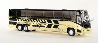 """1:87 MCI J4500 Motorcoach """"Arrow"""" (Gold Plated)"""