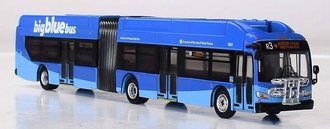"1:87 New Flyer XN60 Xcelsior Articulated Bus ""Santa Monica Big Blue Bus"""
