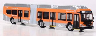 "1:87 New Flyer XN60 Xcelsior Articulated Bus ""METRO Los Angeles"""