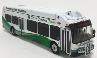 "1:87 New Flyer xcelsior XN40 Transit Bus ""City of Commerce Transportation"""