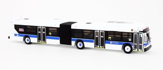 "1:87 New Flyer xcelsior XD60 Articulated Bus ""MTA New York City"" (White w/Blue Stripe)"