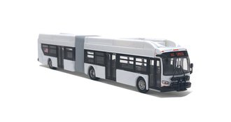 1:87 New Flyer xcelsior XN60 Articulated Bus (Blank - Undecorated)