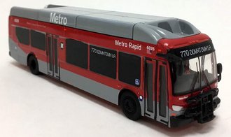 "1:87 New Flyer xcelsior XN40 Transit Bus ""Metro Rapid - Los Angeles"""
