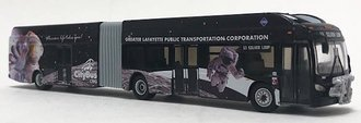 "1:87 New Flyer XN60 Xcelsior Articulated Bus ""Lafayette, IN"""