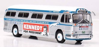 "1:87 GM PD4104 Coach ""Greyhound Bus Lines - Kennedy Campaign Bus"""