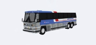 "1:87 1984 MCI MC-9 Motorcoach ""Greyhound Americruiser"""