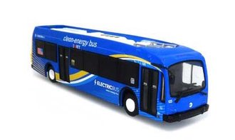 """1:87 2020 Proterra ZX-5 Electric Transit Bus """"MTA NYC"""""""