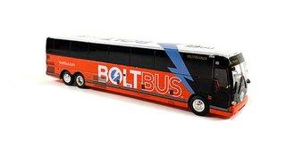 """1:87 2019 Prevost X345 Coach """"Boltbus - Bolt for a Buck"""""""