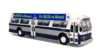 """1:87 1980 Flxible 53102 Transit Bus """"MTA New York"""" w/Bat Wings (Blue/White)"""