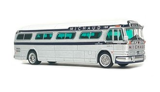 "1:87 1958 GM PD4104 Coach ""Michaud Trailways - Boston"""