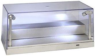 """Illumibox+ 10"""" USB Power L.E.D. 1:24 Scale Showcase (1:64 Scale w/Riser) (Silver Base)"""
