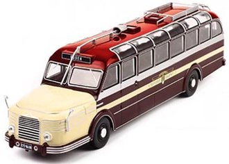 1:43 1951 Krupp Titan 080 Bus (Black/Red)