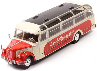 1:43 1952 Borgward BO 4000 Bus (Beige/Red)