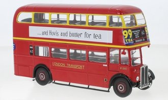 "1:43 1939 AEC Regent III RT Bus ""Black & White"" (Red)"